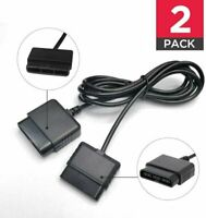 2-Pack Extension Cable for Playstation 2 PS2 Controller Cord 6-FT for Sony 2x