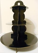 Cupcake Stand, Black, Easy Assembly, Cardboard, Birth/Christ/Wedd/Dinner Party