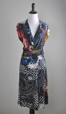 DESIGUAL $129 Atypical Winter Collection Knotted Draped Front Dress Size XL