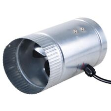 "4"" Inline Duct Fan Booster Exhaust Blower Aluminum Blade Air Cooling Vent"