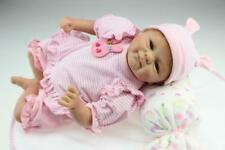 "17"" Bambole Hot Sale Lifelike Silicone Reborn Baby Doll Baby Girl Doll Playmate"