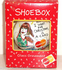 Hallmark Shoebox Ornament All I Want for Christmas is a Card MasterCard 1992