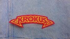 Krokus embroidered patch heavy metal iron maiden judas priest