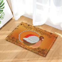 Turkey Thanksgiving Day Kitchen Door Mat Bathroom Rug Bedroom Carpet Bath Mats