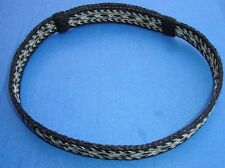 "Western Cowboy/Cowgirl Slide Hat Band Black/Silver Horsehair 7/8"" Wide"