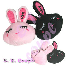 2PC Miffy plush LOVE rabbit bunny head couple keychain