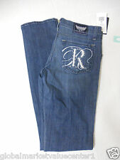 Rock & Republic Lowrise Flare Vella Blue Women's/Junior Jeans Size 27 NEW w/Tag