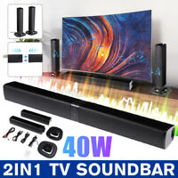 40W Surround Home TV Soundbar System Altoparlante Bluetooth Wireless Subwoofer