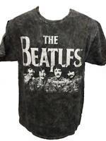 New The Beatles Adult Unisex Mens S-M-L-XL-2XL Licensed Black Shirt $24
