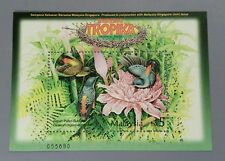 2002 Malaysia joint issue Singapore Tropical Birds Miniature Sheet Stamp Mint NH