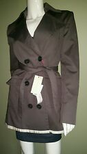NWT $1,595 STELLA McCARTNEY Neiman Marcus Taupe Belted Trench Rain Coat Sz 42/6