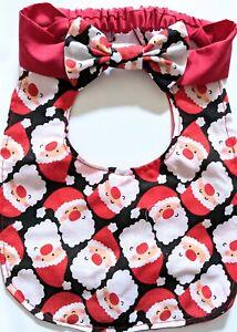 Bib Christmas Santa bib Christmas headband girls bibs dribble bib Christmas bibs