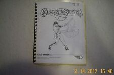 1983 Bally Grand Slam Electronic Pinball Manual / complete fold out schematics