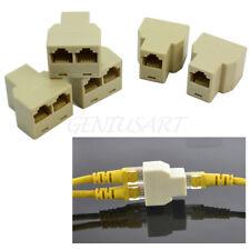 5 X 3 Sockets RJ45 6 LAN Ethernet Splitter Adapter Internet Connector Cable New