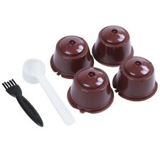 i cafilas 4pcs Dolce Gusto Plsatic Refillable Coffee Capsule with Spoon Brus5H1