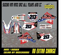 SUZUKI RM RMZ 65 85 125 250 450 Motocross Graphics Kit Sticker Kit Decals MX91
