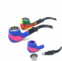 1PC Portable Silicone Smoking Pipe Detachable Colorful Tobacco Herb Pipes New