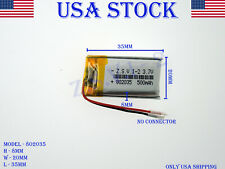 3.7V 500mAh 802035 Lithium Polymer LiPo Rechargeable Battery (USA STOCK)