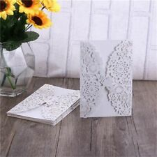 Wedding Invitation Cards Kits Decor Supplies Vertical Laser Cut Butterfly 10 Pcs