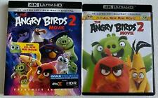 THE ANGRY BIRDS MOVIE 2 4K ULTRA HD BLU RAY 2 DISC SET + SLIPCOVER FREE SHIPPING