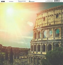 Reminisce - The Colosseum Scrapbooking Paper 12x12 ITA-002, Italy, Double Sided