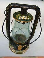 Vintage Kerosene Lantern Lamp Lanora Australia Made Decor Hand Painted Folk Art
