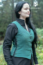 Medieval Padded - Cotton Green Color Sleeveless Coat Costume Reenactment Sca