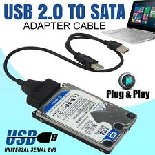 USB 2.0 To SATA 2.5 External HDD SSD Hard Disk Drive Converter Cable Adapter UK