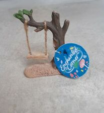 Rustic Real Swing for Fairy Elf Gnome Garden by Enchanted Corner B New With Tags