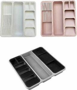 TRIPPLE Knife Spoon Organiser Storage Drawer Separation Box Kitchen Utensil Tray