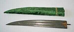 Mughal Moghul dagger Damascus blade w.gold damascene scabbard