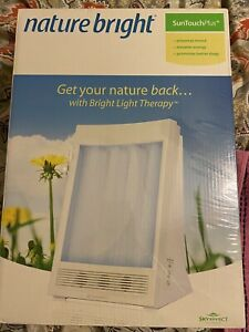 NatureBright SunTouch Plus Light and Ion Therapy Lamp - White
