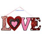 LOVE Valentine Day Wedding Heart Door Wreath Romantic Room Home Wall Decorations