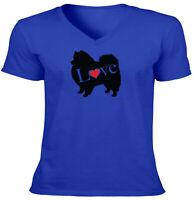 Love Pomeranian Pom Zwergspitz Spitz Unisex Men Tee T-Shirt Cute Dog Lover Gift