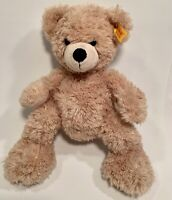 "STEIFF  11"" Tan Beige Brown Plush Teddy Bear FYNN 111471 KNOPF IM OHR"