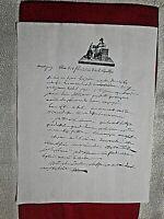 LETTRE ANCIENNE DE NAPOLEON BONAPARTE AUTOGRAPHE ALL'AMATA GIUSEPPINA 1800