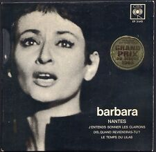 BARBARA NANTES EP POCHETTE CARTON 45T CBS 5645  GRAND PRIX DU DISQUE 1965