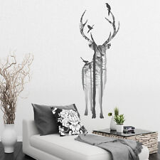 BEAUTIFUL STAG IN THE WOODS DECAL WALL STICKER VINYL TRANSFER MURAL