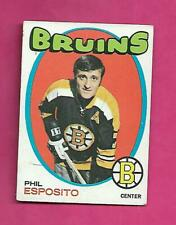 1971-72 TOPPS # 20 BRUINS PHIL ESPOSITO  GOOD CARD  (INV# H0101)