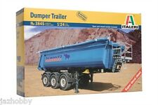 Italeri 3845 1/24 Scale Model Truck Kit Schmitz Cargobull 3-Axles Dumper Trailer