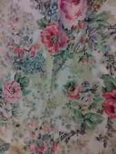 Ralph Lauren-'Brittany&#03 4; Queen Flat Sheet-Rare Pattern-Soft Florals-100% Cotton