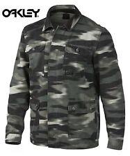 Small Oakley Blurred Grey Camo Shaket Long Sleeve Work Shirt Hip Yeezy  Style