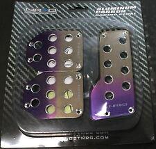 NRG MT Manual Titanium Purple Pedal Aluminum Set PDL-500PT Racing Pedals