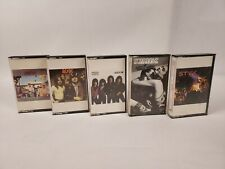 Lot of 5 Vintage Rock Cassette Tapes AC/DC KISS STYX SCORPIONS Tested & Working!