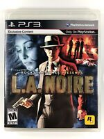 FREE SHIPPING! L.A. NOIRE (Sony PlayStation 3 2011) PS3 Complete CIB VG Rockstar