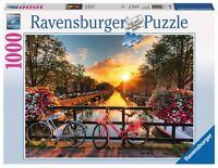 RAVENSBURGER 19606 BICICLETAS AMSTERDAM Puzzle 1000 Piezas - Puzzel 1000 Stukjes
