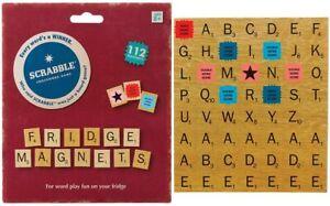 Scrabble Fridge Magnets Crossword Game 112 Magnetic Refrigerator Tiles NOS 2014