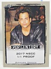Richard Grieco 2017 Leaf Pop Century Silver Border Blank Back NSCC Proof #'d 1/1