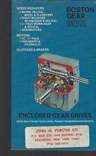 Boston Gear Catalog Enclosed Gear Drives 1979