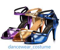 Ladies Party Ballroom Latin Tango Salsa Dance Shoes Rumba Samba Heels Sandals 3C